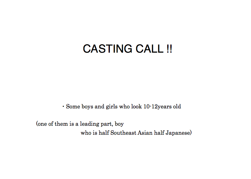 CAST WANTED!!