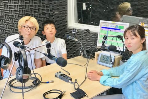 6月26日FM東広島さんに。吉元宏介くん